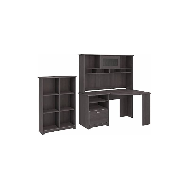 Cabot Corner Desk with Hutch and 6 Cube