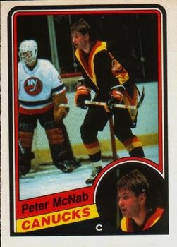 The Hockey Shop Vancouver - 1984 O-Pee-Chee Regular (Hockey) Card# 326 Peter McNab of the Vancouver Canucks Ex Condition