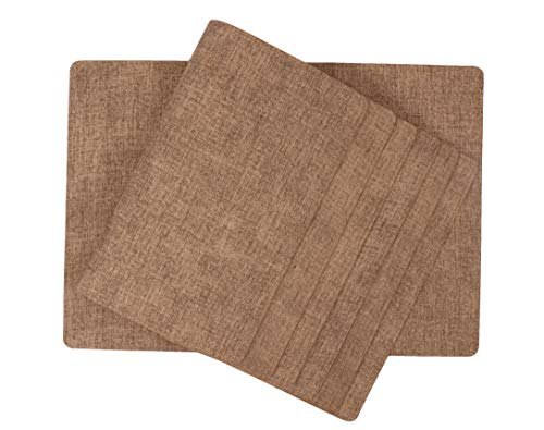 Jovono Set 0f 4 Faux Leather Placemats, Table Mat, Water-Proof Dining Place Mats, Plate Dish Coaster Kitchen Accessories (Leather Home Plate Coasters)
