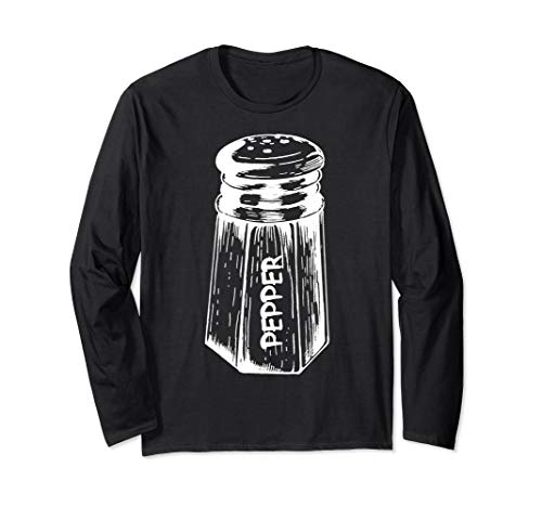 Homemade Costume Ideas Couples (Funny Salt Pepper Couples Matching Halloween Costume Party Long Sleeve)