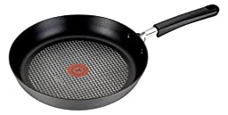 T-fal C03707 OptiCook Hard Anodized Thermo-Spot Scratch Resistant Titanium Nonstick Oven Safe PFOA Free Fry Pan Cookware, 11.5-Inch, Black