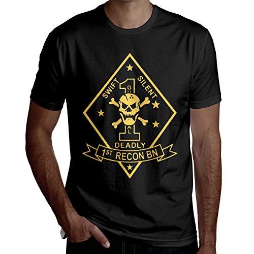 1st Recon Battalion Men's Casual Short Sleeve T-Shirt -