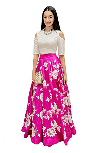 - Delisa Fashion New Collection Women's Multi Coloured Georgette Lehenga Choli. (Pink)