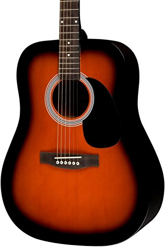 Rogue RA-100D Dreadnought Acoustic Guitar Sunburst by Rogue