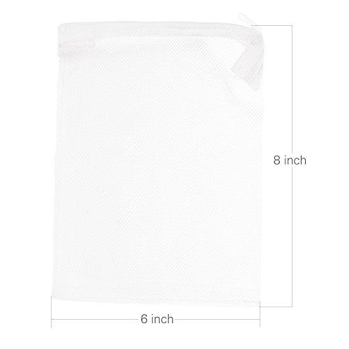 kloud-city-10pcs-8-x-6-white-color-fish-tank-filter-mesh-bags-with-plastic-zippers-aquarium-pond-fil