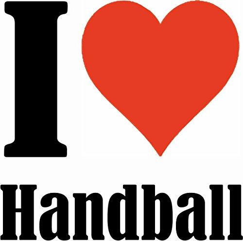 """Handyhülle iPhone 5C """"I Love Handball"""" Hardcase Schutzhülle Handycover Smart Cover für Apple iPhone … in Weiß … Schlank und schön, das ist unser HardCase. Das Case wird mit einem Klick auf deinem Smar"""