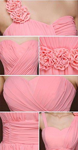 Heimkehr drasawee Chiffon Junior Cap Sleeve Kleid Kleider Rose Ball Kurz Damen H81xSg