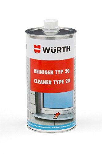 Würth Pvc Reiniger Kunstoff Fenster Reiniger Kunststoffreiniger Typ 20 1 Liter