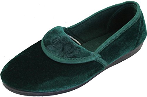 KS Brands , Damen Hausschuhe Forest Green