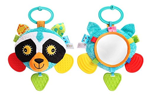 Royarebar Women's Accessories Cosmetic Mirror Kids Infant Lovely Civet Cat Rolling Hand Grasp Mirrors Toy Colorful Safety Mirror Gift by Royarebar (Image #3)