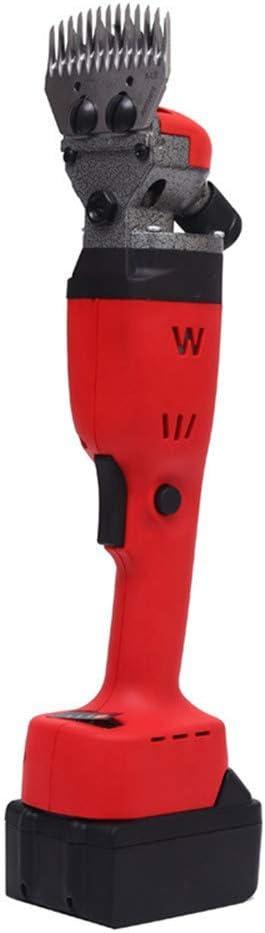 AMITD Schermaschine ovejas Hochleistungs Professional inalámbrico, Schafschermaschine Schafschere 280W & 4000 mAh litio eléctrica Wollschere Schere Wollfader,batería (opcional) gratuita maleta