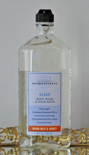 Bath & Body Works Sleep Body Wash & Foam Bath Warm Milk & Honey 10 fl. oz.
