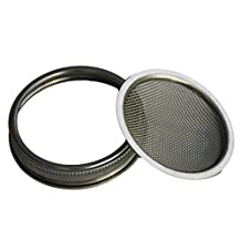 Stainless Steel Sprouting Lid and Band for Wide Mouth Mason, Ball, Canning Jars