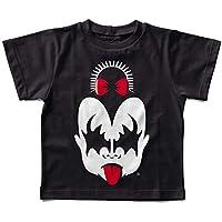 Camiseta Infantil Kiss Menina, Let's Rock Baby, Preto