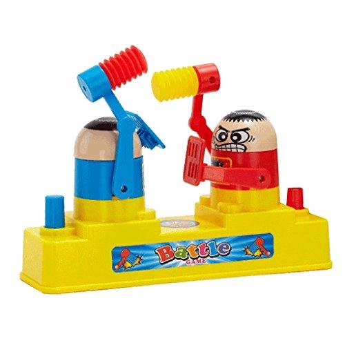 Lovoski プラスチック製 キッズ ダブルバトル ボードゲーム おもちゃ ハンマー 隠れゲーム