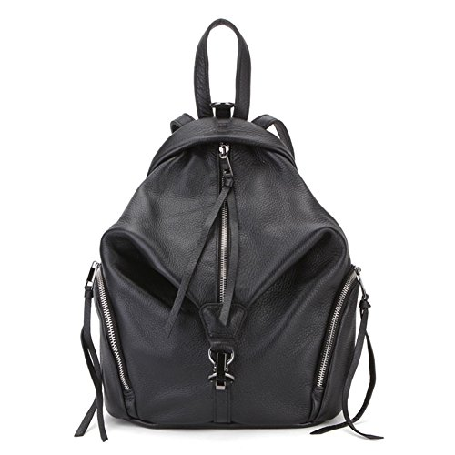VF P902 Leather Backpack Black by Violett-Backpacks