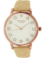 Kate Spade New York Rose Gold Tone Quilted Leather Metro Watch