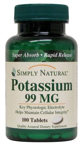 Simply Natural Potassium 99 MG, 100 tablets Review