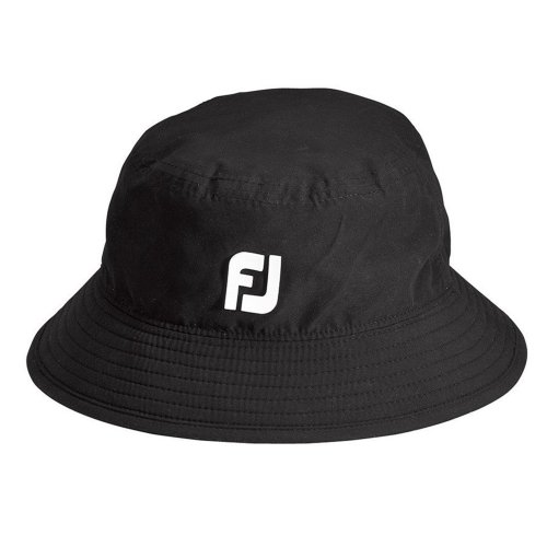 FootJoy-DryJoys-Waterproof-Bucket-Hat-COLOR-Black-SIZE-Medium-M