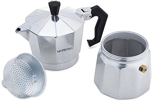 Moka Pot Coffee Maker- Stovetop Espresso Maker Easy To Use And Clean Italian Design For Best Espresso Coffee - By Mixpresso Coffee by Mixpresso (Image #4)
