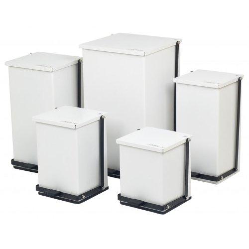 Receptacle Baked Epoxy in White Capacity: 100 Quart (25 Gallon)