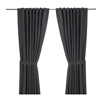 Gardinen Aufhängen ikea ritva 2 gardinen 145 x 300 cm versteckte schlaufen zum