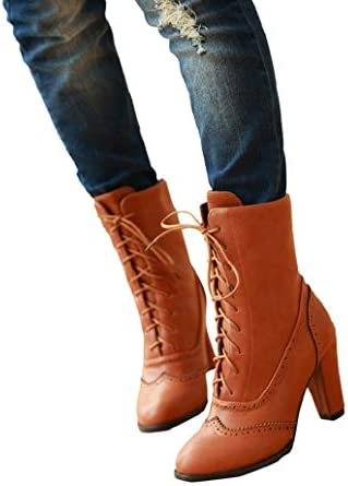 Fashion Women/'s Mid-Calf Boots Lace Mesh Stiletto High Heels Pointed Toe Shoes