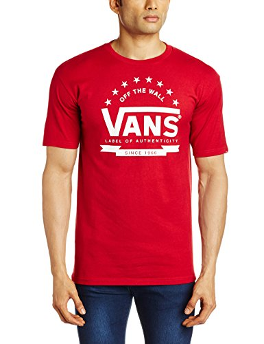 VANS Men's Cotton T-Shirt (8907222044190_VN-00RMCAR_Medium_Cardinal)