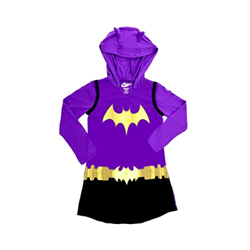 DC Comics Dress Like Batgirl Hooded Nightgown for Big Girls (7/8)