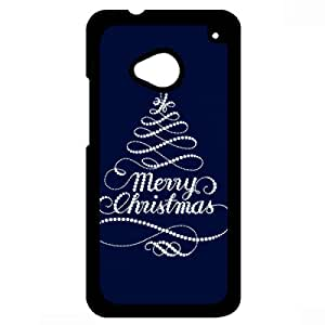 Happy New Year Phone Case Merry Christmas HTC One M7 Phone Case Dust-Proof Cover Case Merry Christmas Phone Case 283