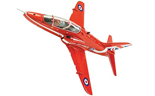 Corgi Boys Bae Hawk RAF Red Arrows- 60th Anniversary Collection 1:72 Anniversary Limited Edition Diecast Replica AA36012 Vehicle (Arrows Hawk Red)