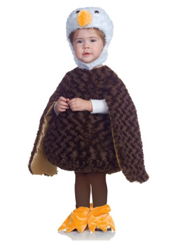 Underwraps Baby's Bald Eagle Belly-Babies, Brown/White/Tan, X-Large