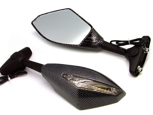 Snakeskin Universal swing freely modified mirror LED Turn signals intergrated mirrors For CBR600 F1/F2/F3/F4/F4i CBR600RR 1987-2010