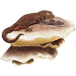 Zilla Vertical Décor for Reptiles, Mushroom Feeding Ledge