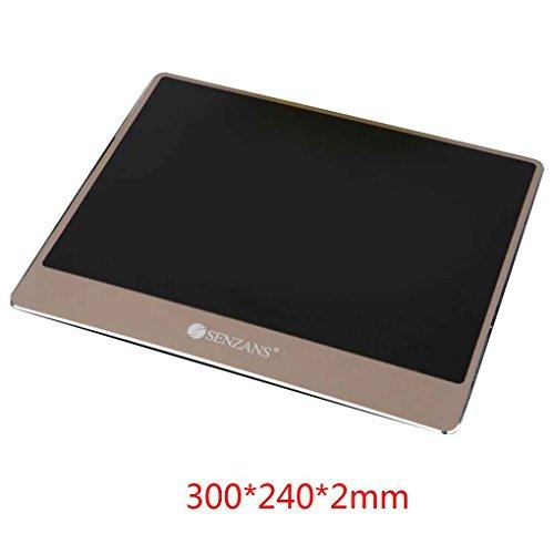 Minzhi SENZANS Universal Aluminum Alloy Large Gaming Mouse Mat Metal Resin Non-Slip Rubber Bottom Mouse Pad Laptop Mousepad by Minzhi