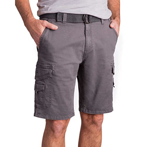 Weatherproof Vintage Men's Cargo Short with Belt, 36, - Store Outlet Cargo