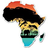 Africa pride continent outline vinyl sticker decal logo truck car wall #185