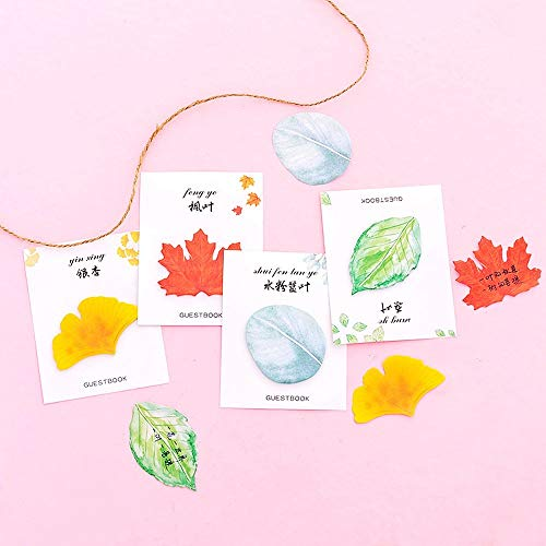 Elevin(TM)  Cute Sticky Notes Paper Leaves Stickers Note Sticker Paper Memo Pad Stationery by Elevin(TM) _ Home Decor & Kitchen (Image #3)