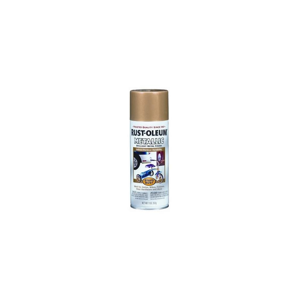 11 Oz Gold Rush Stops Rust Metallic Spray Paint 7270 830 [Set of 6]