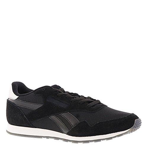 Reebok Womens Royal Ultra Sl Fashion Sneaker Nero / Argento Metallizzato / Bianco