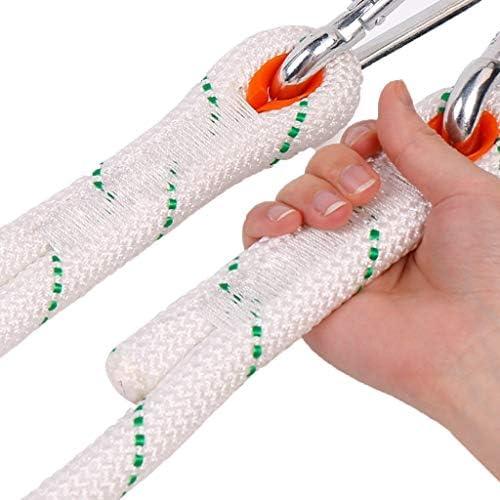 ZHWNGXO 20mm-Außensicherungsseil, Double Layer Weaving Polyester Rettungsseil Anwendbar ToAir Operationsheigh Twhite10m / 20m / 30m / 40m / 50m / 60m / 80m / 100m (Color : White, Size : 100m)