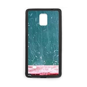 Splashing Rain Samsung Galaxy Note 4 Cell Phone Case Black DIY Present pjz003_6525069