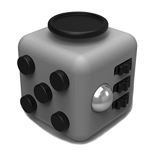 Juslink Fidget Cube Toys,Stress Cube, Anti-anxiety Cube for Kids and Adults Anxiety Attention Toy (Gray-2)