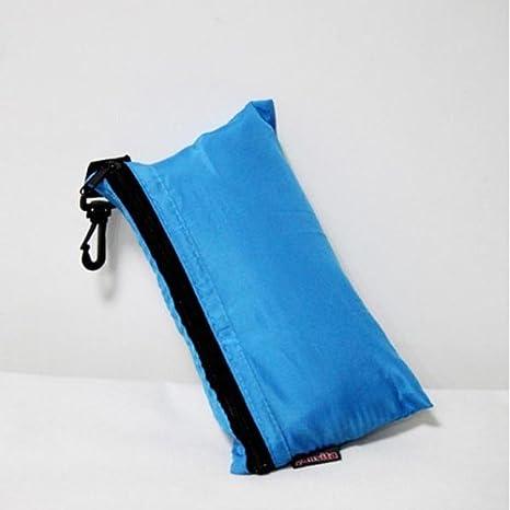 Mini Saco de dormir de seda individual Liner Saco de dormir Camping viaje (cielo Azul