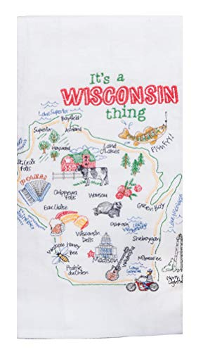 Kay Dee Designs ST Thing Wisconsin EMB F/S Dish Towel, 17.5 x 28, Various (Wi Kay)