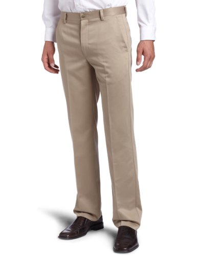 Dockers Men's Dockers Men'S Never-Iron Essential Khaki Slim Fit Flat Front Pant,British Khaki,30x30