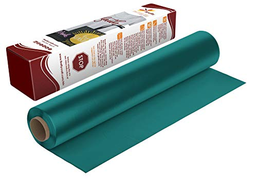 Firefly Craft Teal Heat Transfer Vinyl | Teal HTV Vinyl | Teal Iron On Vinyl for Cricut and Silhouette | 5 Feet by 12.25 Roll | Heat Press Vinyl for Shirts
