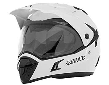 Acerbis - Casco para moto, motard, quad, atv L blanco - Blanco