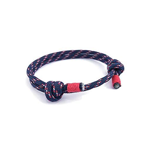 Cyan mango Men Jewelry Bracelet & Bangles Friendship for Women Femme Charm New Black 550 Paracord Adjust ()