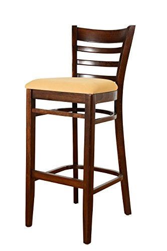 Beechwood Mountain BSD-5B-W Solid Beech Wood Bar Stool in Walnut for Kitchen and dining Review